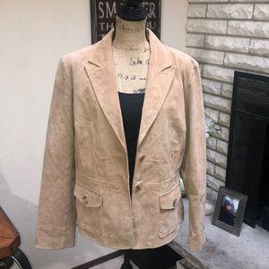 100% Leather Jacket Sz Large